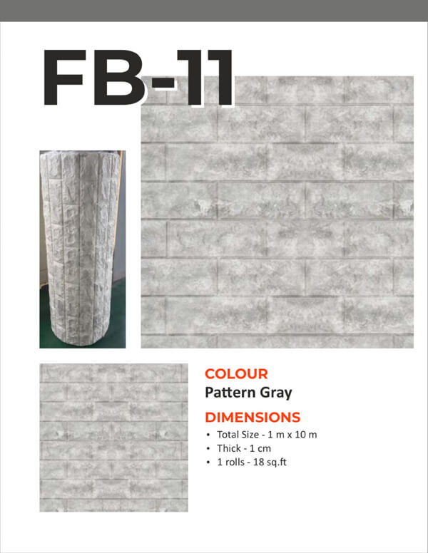 3D Foam Bricks Self Adhesive- Pattern Gray