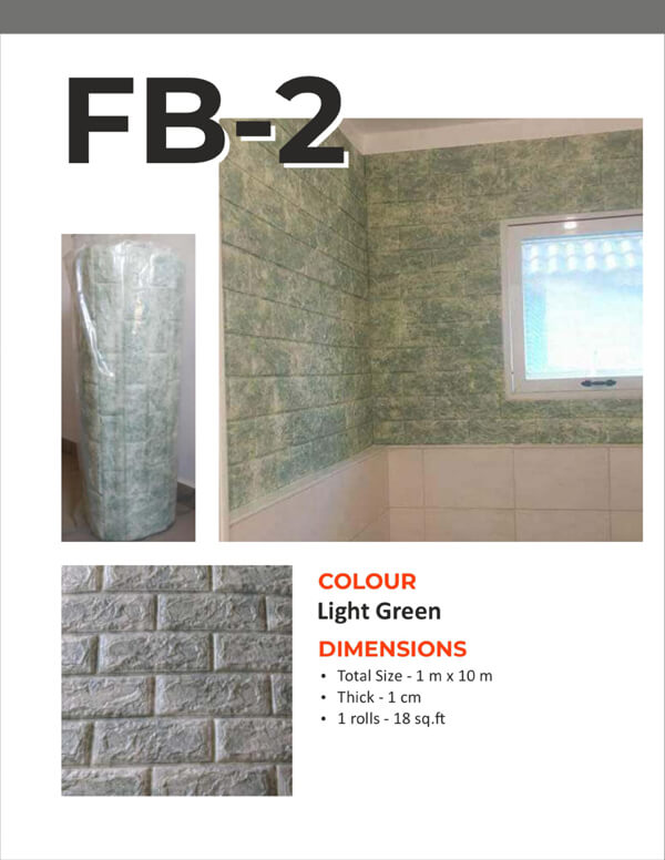 3D Foam Bricks Self Adhesive- Light Green