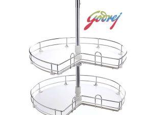 Godrej Wooden Carousel Kitchen Basket