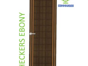 Green Ndure PVC Doors Commandoo- Checkers Ebony