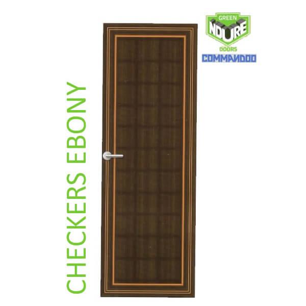 Green Ndure PVC Doors Commandoo- Checkers Ebony