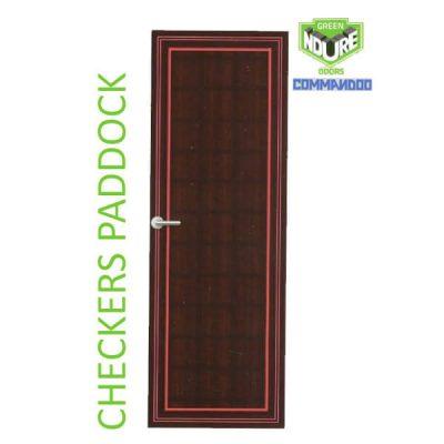 Green Ndure PVC Doors Commandoo- Checkers Paddock
