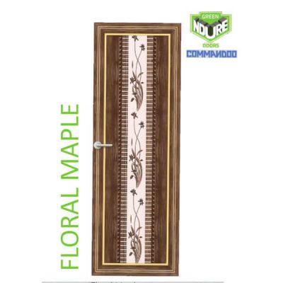Green Ndure PVC Doors Commandoo- Floral Maple
