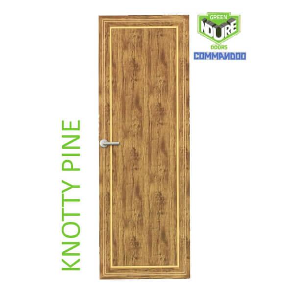 Green Ndure PVC Doors Commandoo- Knotty Pine