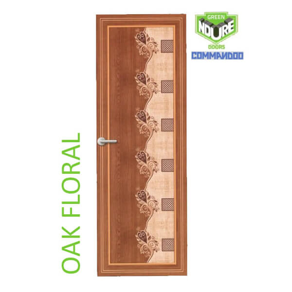 Green Ndure PVC Doors Commandoo- Oak Floral