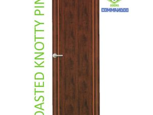 Green Ndure PVC Doors Commandoo- Roasted Knotty Pine