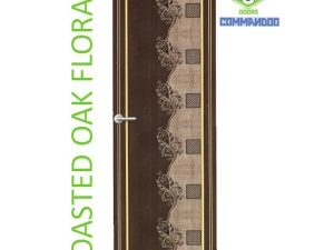 Green Ndure PVC Doors Commandoo- Roasted Oak Floral
