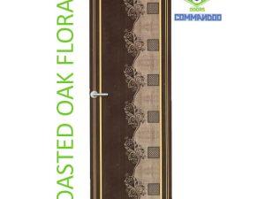 Green Ndure PVC Doors Commandoo- Roasted Oak Floral
