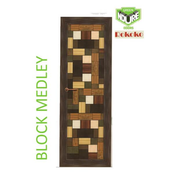 Green Ndure PVC Doors Rokoko- Block Medley