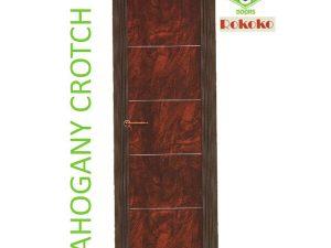 Green Ndure PVC Doors Rokoko- Mahagony Crotch