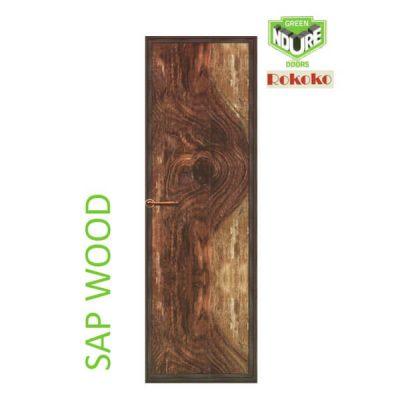 Green Ndure PVC Doors Rokoko- Sap Wood