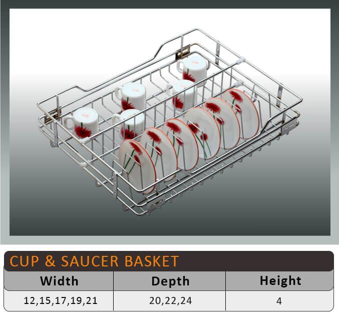 Jaguar Cup Saucer Kitchen Basket