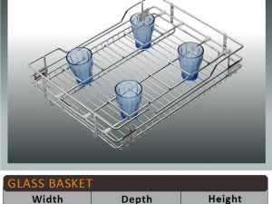 Jaguar Glass Kitchen Baskets