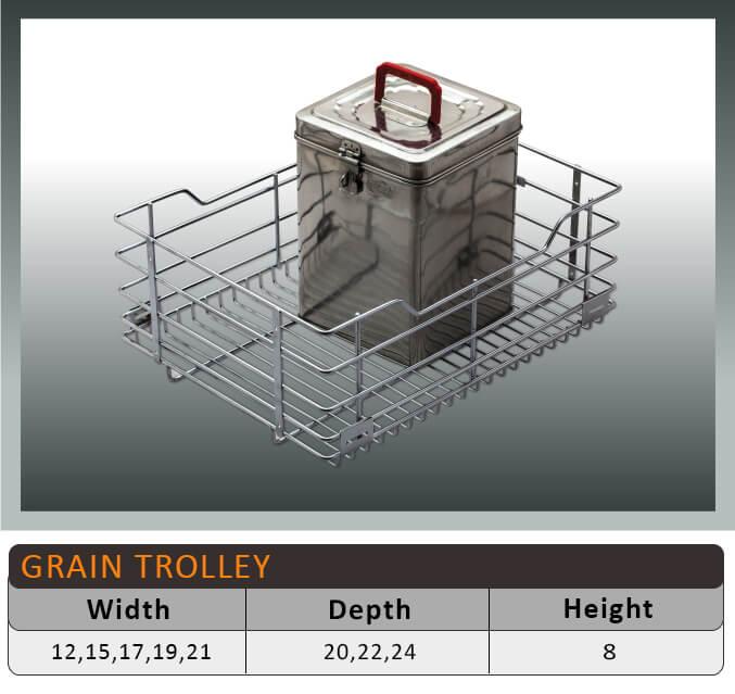 Jaguar Grain Trolley Kitchen Baskets