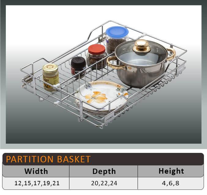 Jaguar Partition Kitchen Baskets