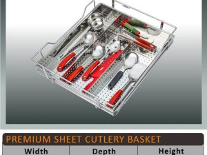 Jaguar Perforated Cutlery Kitchen Basket