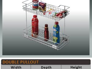 Jaguar Two Shelf Pullout Kitchen Basket