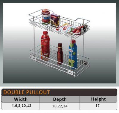 Jaguar Two Shelf Pullout Kitchen Basket