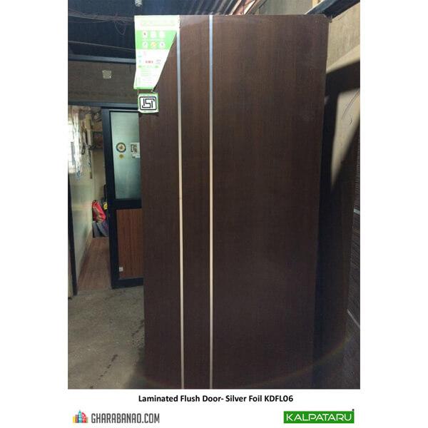 Kalpataru- Laminated Flush Door- Silver Foil KDFL06