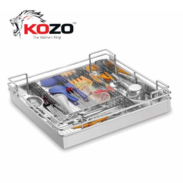 Kozo Perforated Cutlery Kitchen Basket