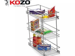 Kozo Three Shelf Pullout Kitchen Basket