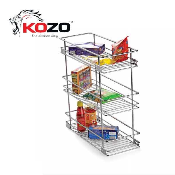 Kozo Three Shelf Pullout Kitchen Basket