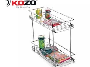 Kozo Two Shelf Pullout Kitchen Basket
