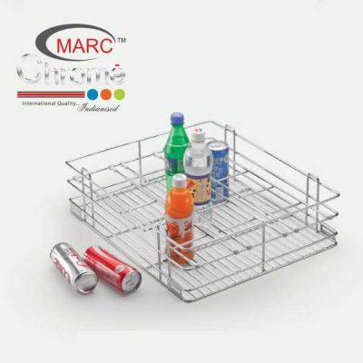 Marc Chrome Bottle Kitchen Basket