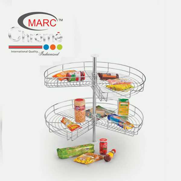 Marc Chrome Carousal Kitchen Basket