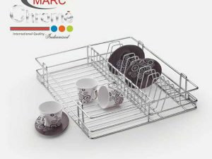 Marc Chrome Cup Saucer Kitchen Basket