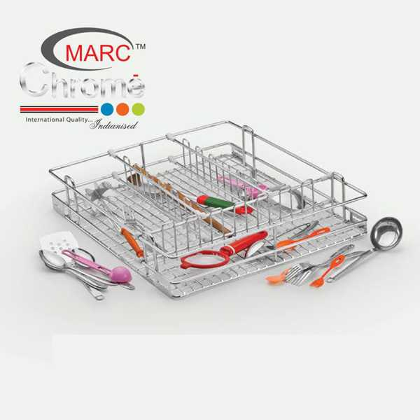 Marc Chrome Cutlery Kitchen Basket