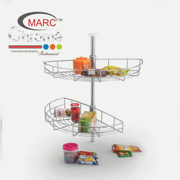 Marc Chrome D Tray Kitchen Basket