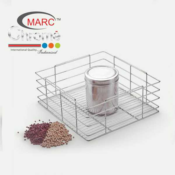 Marc Chrome Grain Trolley Kitchen Baskets