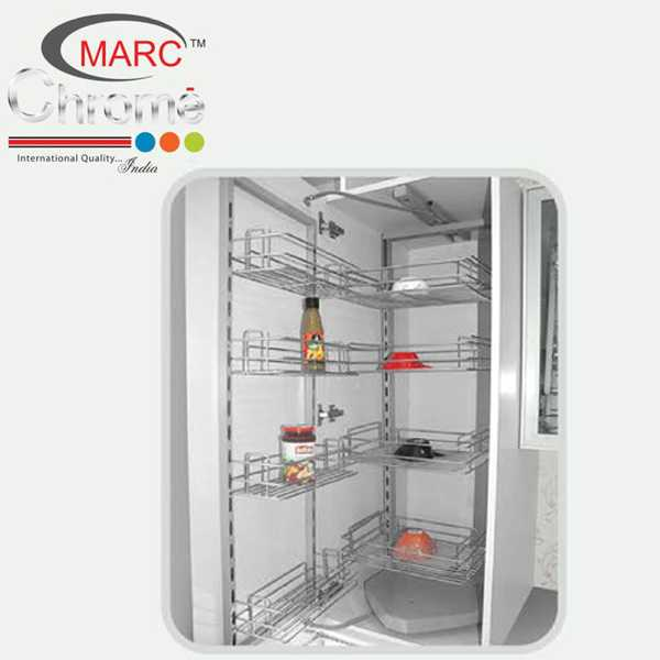 Marc Chrome Pantry Kitchen Unit