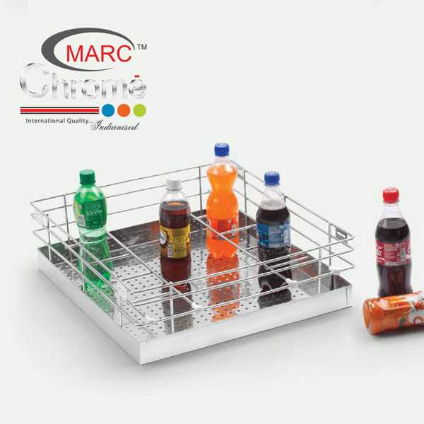 Marc Chrome Perforated Glass Kitchen Baskets