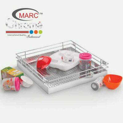 Marc Chrome Perforated Plain Kitchen Baskets