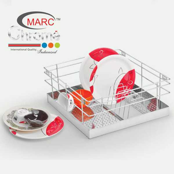 Marc Chrome Perforated Thali Kitchen Baskets