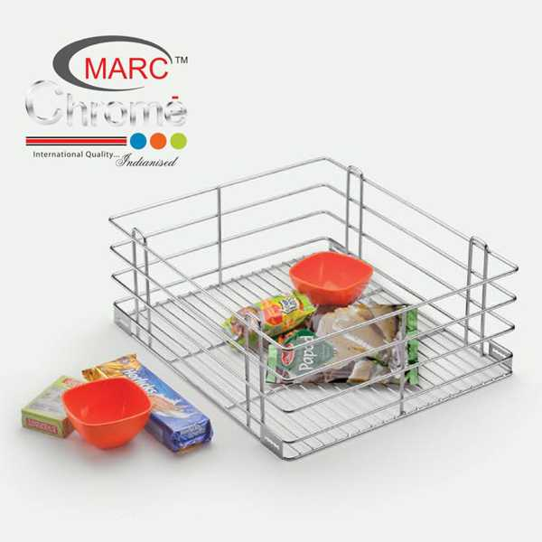 Marc Chrome Plain Kitchen Baskets