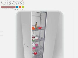 Marc Chrome Tall Kitchen Unit