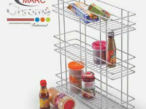 Marc Chrome Three Shelf Pullout Kitchen Basket