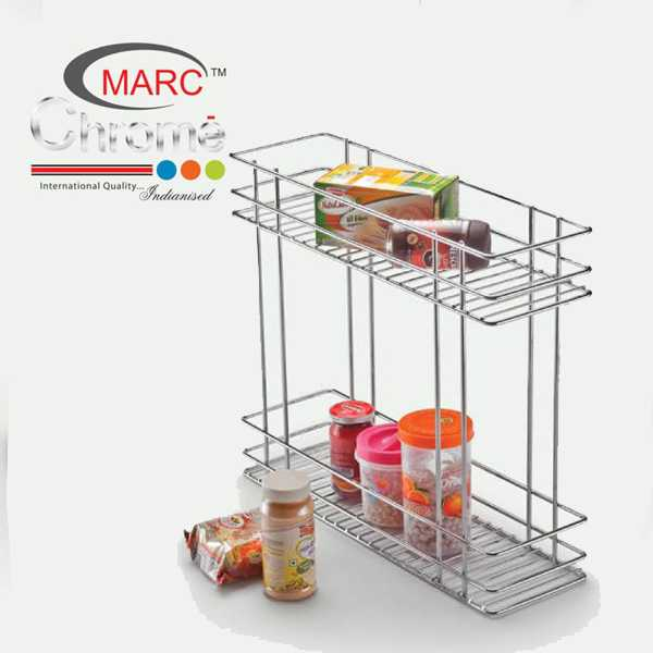 Marc Chrome Two Shelf Pullout Kitchen Basket