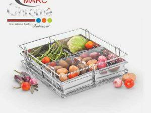 Marc Chrome Vegetable Kitchen Baskets