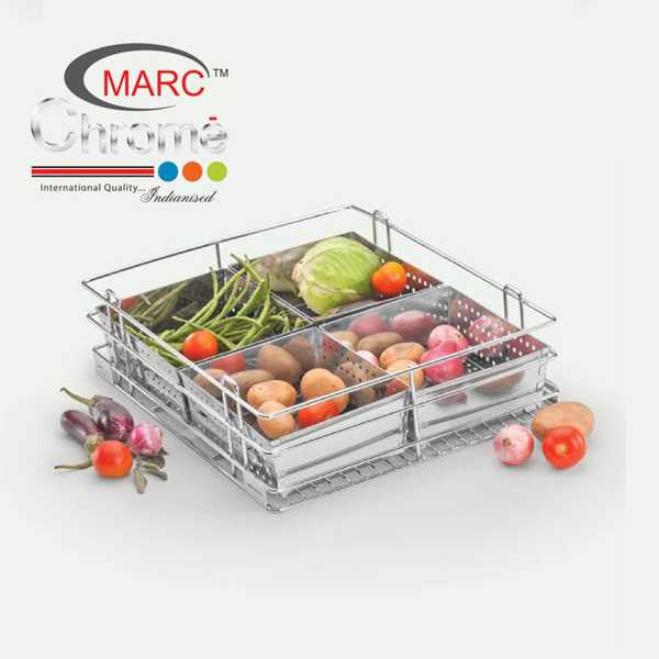 Marc Chrome Vegetable Kitchen Baskets
