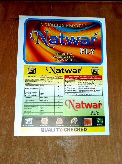 Natwar Ply 303 MR Grade Plywood 3