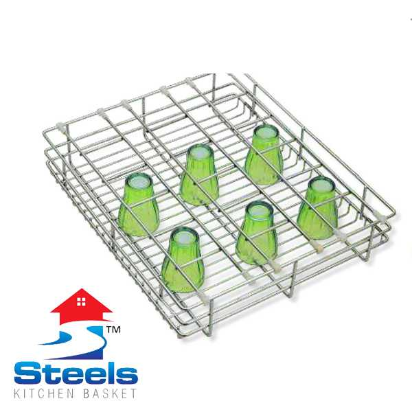 SteelS Glass Kitchen Baskets