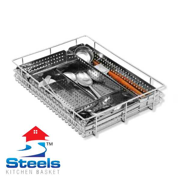 SteelS Perforated Cutlery Kitchen Basket