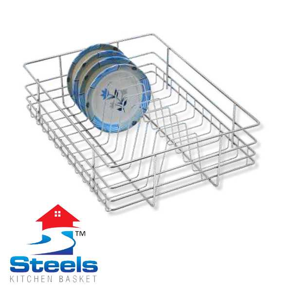 SteelS Plate Kitchen Baskets