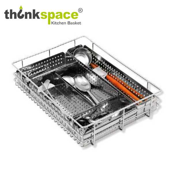 ThinkSpace Perforated Cutlery Kitchen Basket