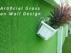 Artificial Grass for Wall Design