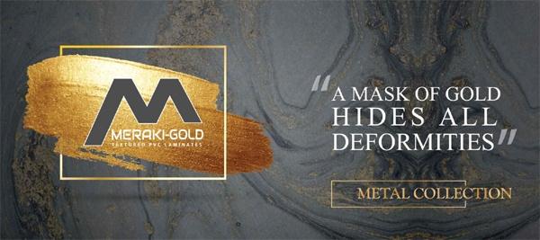 Meraki Gold PVC Laminates- 1.25MM